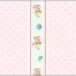 Rótulo Mini Talento Floral Verde e Rosa