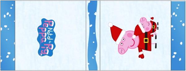 Rótulo Mini Talento Peppa Pig Natal