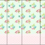 Rótulo Nescauzinho Floral Verde e Rosa