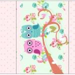 Rótulo Pé de Moleque Yoki Corujinha Vintage Rosa e Verde