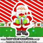 Rótulo Passatempo Natal Vermelho e Verde