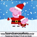 Rótulo Passatempo Peppa Pig Natal