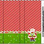Rótulo Pirulito Mastigável Natal Vermelho e Verde