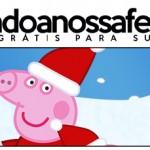 Rótulo Pote Papinha Peppa Pig Natal