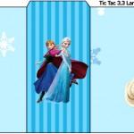 Rótulo Tic Tac Frozen Azul