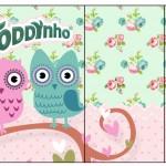 Rótulo Toddynho Corujinha Vintage Rosa e Verde
