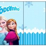 Rótulo Toddynho Frozen Azul