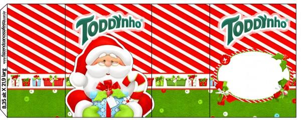 Rótulo Toddynho Natal Vermelho e Verde