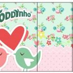 Rótulo Toddynho Passarinho Vintage Rosa e Verde