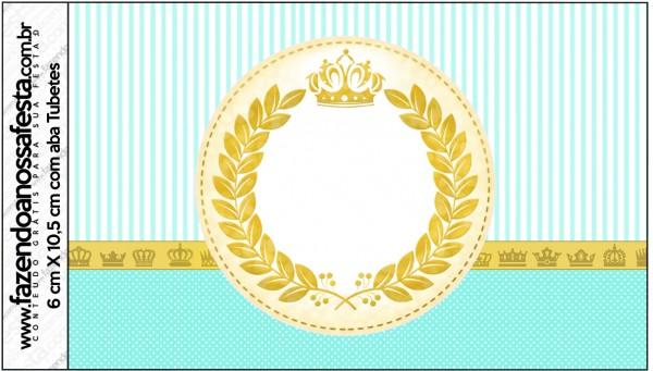 Rótulo Tubetes Coroa de Príncipe Verde