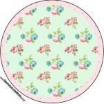 Rótulo Tubetes, Toppers e Latinhas Floral Verde e Rosa
