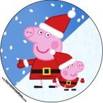 Rótulo Tubetes e Latinhas Peppa Pig Natal