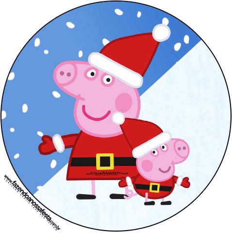 R tulo tubetes e latinhas peppa pig natal fazendo a - Peppa cochon noel ...