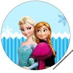 Rótulo Tubetes e Toppers Frozen Azul