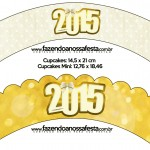 Saias Wrappers para Cupcakes Ano Novo 2015.