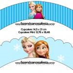 Saias Wrappers para Cupcakes Frozen Azul