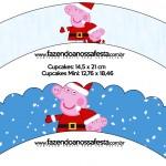 Saias Wrappers para Cupcakes Peppa Pig Natal