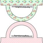 Saquinho de Balas Floral Verde e RosaSaquinho de Balas Floral Verde e Rosa