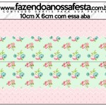 Saquinho de Balas Floral Verde e Rosa 2