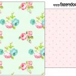 Saquinho de Chá Floral Verde e Rosa