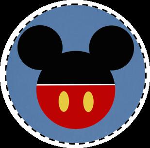 Toppers para Docinhos,Tubetes e Latinhas Festa Mickey Mouse