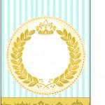 Tag Agradecimento Coroa de Príncipe Verde