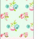 Tag Agradecimento Floral Verde e Rosa