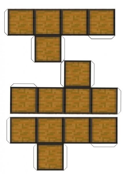 Moldes para Festa Minecraft