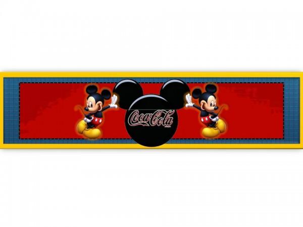 Rótulo Coca-cola Festa Mickey Mouse