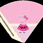 Cone Guloseimas Miss Peppa Pig