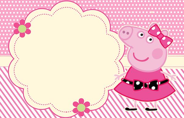 Convite Miss Peppa Pig