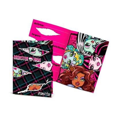 Convite de Aniversário Monster High