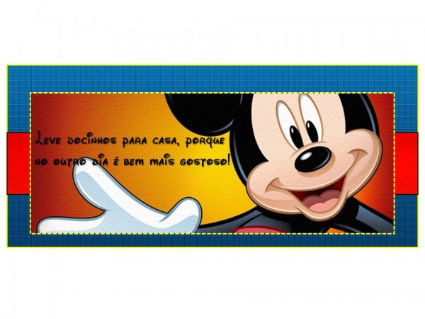 Doces Festa Mickey Mouse