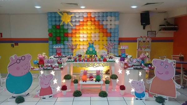 Decoração Festa Peppa Pig da Isabella