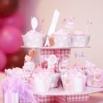 Cupcakes Bolo Festa Ursinha Marrom e Rosa