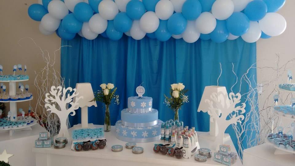 decoracao azul e amarelo para aniversario:Comemorando 28 com a Festa Arabesco Azul da Camila