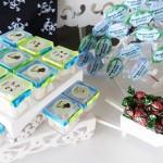 Doces Chá de Bebê Poá Verde e Azul Rock