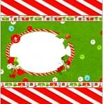 Bala Personalizada Fundo Natal Vermelho e Verde