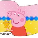 Bandeirinha Peppa Pig e Teddy