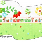 Bandeirinha Sanduiche 1 Fundo Natal Verde e Branco