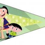 Bandeirinha Sanduiche 2 Show da Luna para Meninos