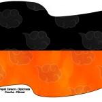 Bandeirinha Sanduiche 3 Fundo Naruto