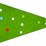 Bandeirinha Sanduiche 3 Fundo Natal Vermelho e Verde