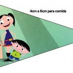 Bandeirinha Sanduiche 3 Show da Luna para Meninos