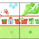Bandeirinha Sanduiche 4 Fundo Natal Verde e Branco