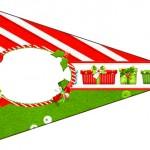 Bandeirinha Sanduiche 4 Fundo Natal Vermelho e Verde