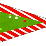 Bandeirinha Sanduiche 6 Fundo Natal Vermelho e Verde