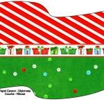 Bandeirinha Sanduiche 6 Fundo Natal Vermelho e Verde 2