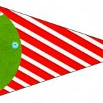 Bandeirinha Sanduiche 7 Fundo Natal Vermelho e Verde