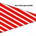 Bandeirinha Sanduiche 8 Fundo Natal Vermelho e Verde